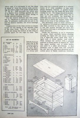 Colonial Chest Secretary Desk Dresser Furniture Plans Ebay