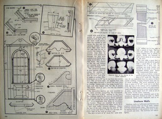 Colonial Corner Cupboard 1945 How2build Furniture Plans Ebay