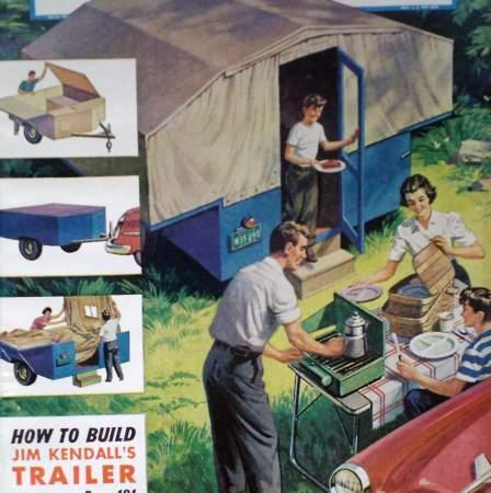 how to build pop up camping tent trailer camper original 1954 diy article plan ebay. Black Bedroom Furniture Sets. Home Design Ideas