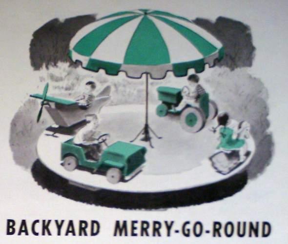 1959 How To Build Motorized * MERRY-GO-ROUND * Backyard