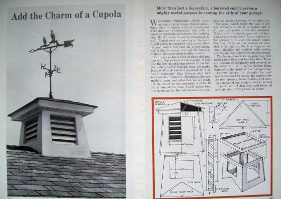 How To Build A Decorative Roof Top Louvered Cupola