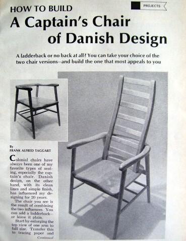 Danish colonial captain 39 s chair plain ladderback plans ebay for Colonial furniture plans
