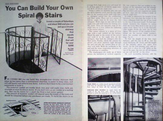 How to build wrought iron circular staircase spiral stairs for Build your own spiral staircase