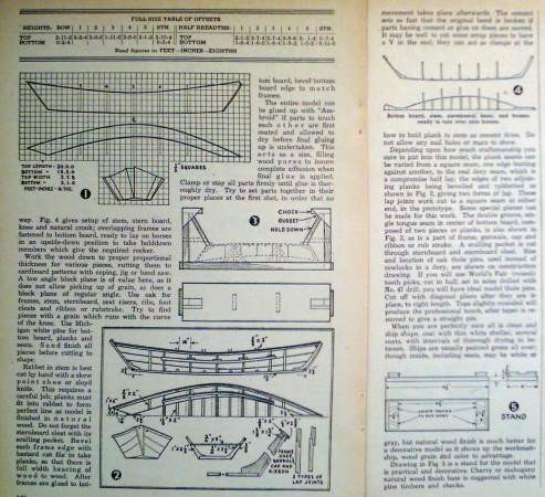 Vintage How to Build *SWAMPSCOT* DORY MODEL FISHING BOAT/ LIFEBOAT Article Plans | eBay