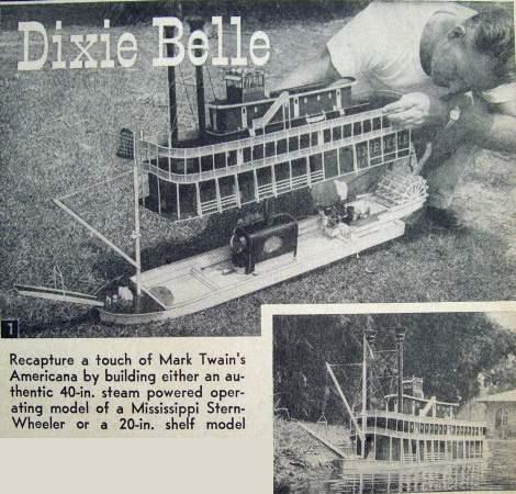 1954 Plans - MISSISSIPPI RIVER Paddle Wheel BOAT STEAMBOAT MODEL ...