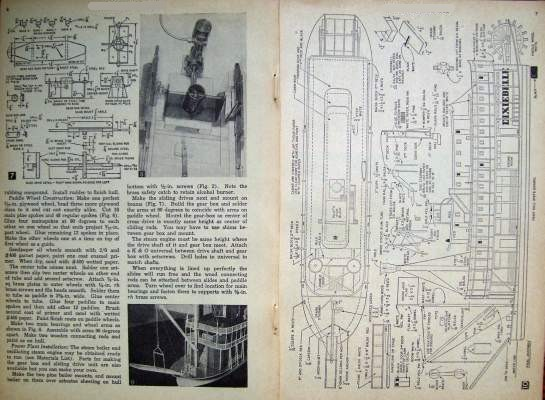 1954 Plans - MISSISSIPPI RIVER Paddle Wheel BOAT STEAMBOAT MODEL ...
